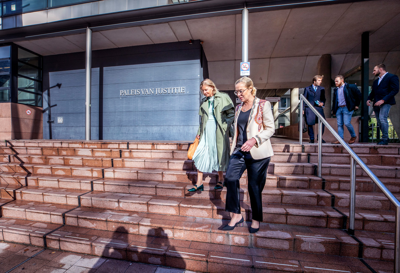Sigrid Kaag verlaat de rechtbank in Den Haag. Ze maakte dinsdag gebruik van haar spreekrecht in de zaak tegen Erik van Z. Beeld Raymond Rutting / de Volkskrant