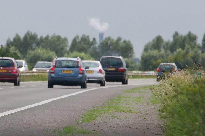 De A348 tussen Velp en Dieren. Hier wordt nu nog een maximumsnelheid gehanteerd van 120 kilometer per uur.