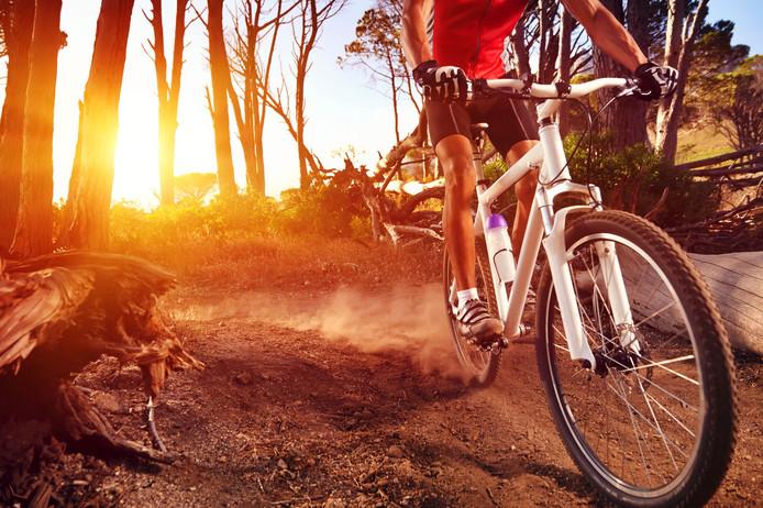 Stockfoto van een fietscrossbaan.