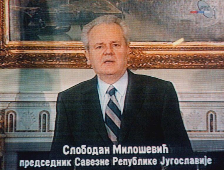 De voormalige Servische leider Slobodan Milosevic. Beeld AP
