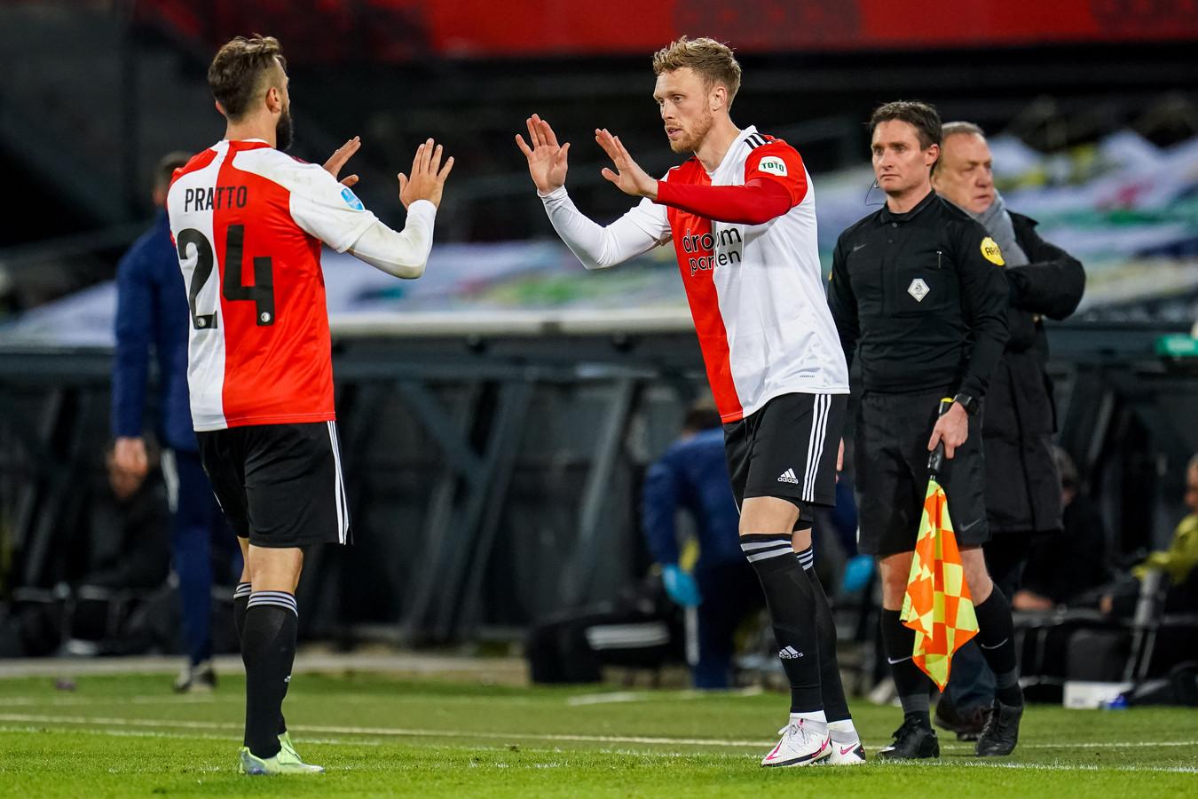 Lucas Pratto werd opnieuw afgelost door Nicolai Jørgensen, nu na 75 minuten.