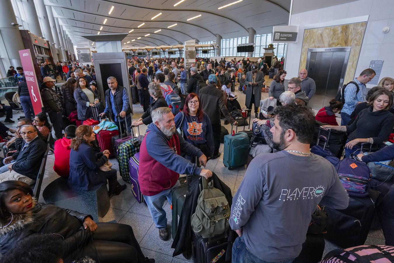 Drukte op Atlanta Airport in december 2017.