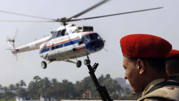 Helikopters van het Egyptische leger. Beeld AP