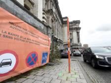 Des commerçants des Marolles rouvrent les rampes du palais de justice aux voitures