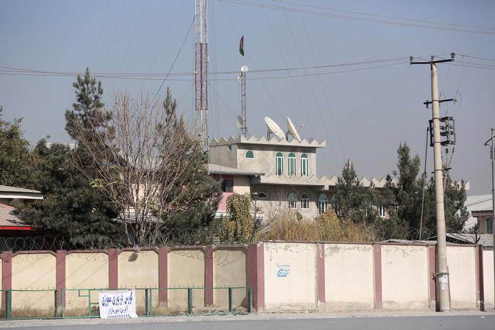 Buitenaanzicht van het tv-station Shamshad TV.