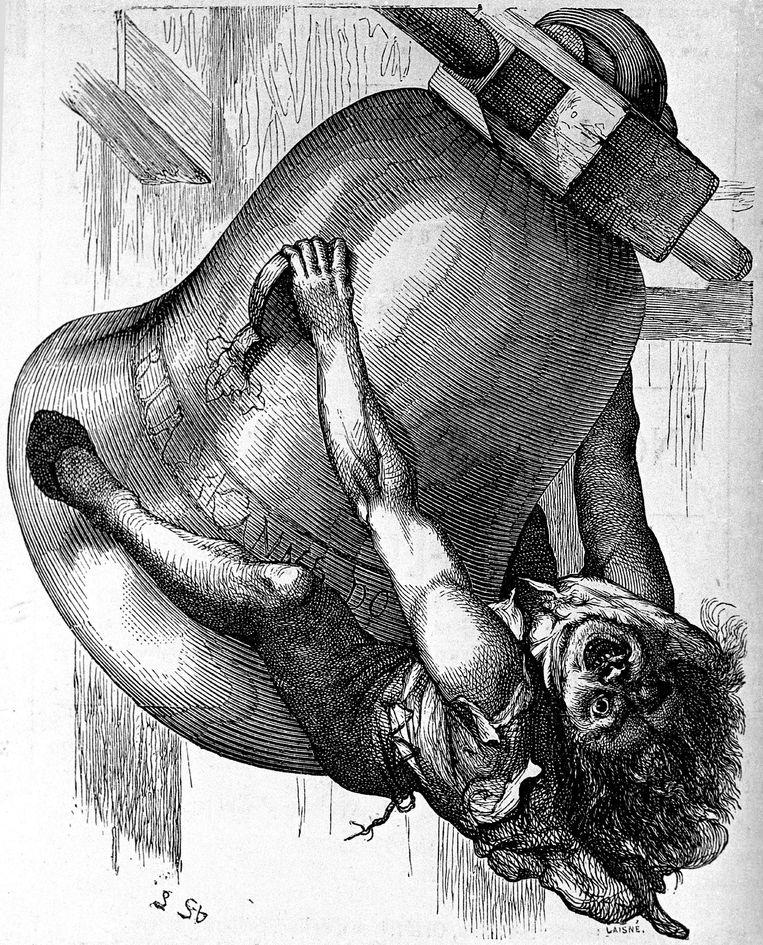 """Quasimodo, het personage uit de roman """"Notre-Dame-deParis"""" van Victor Hugo."""