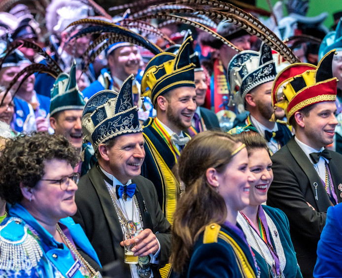 Brabantse carnavalvierders bijeen op de Sleuteldragersbijeenkomst in het Provinciehuis in Den Bosch.