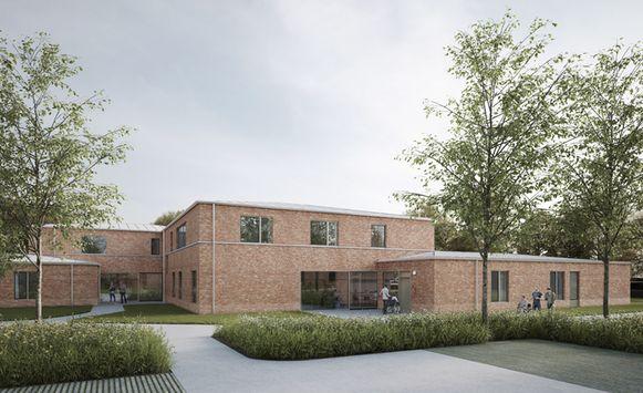 Een simulatie van het nieuwbouwproject van vzw De Bolster op de Oudenaardebaan.