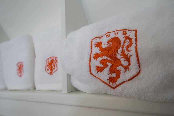 Het logo van voetbalbond KNVB