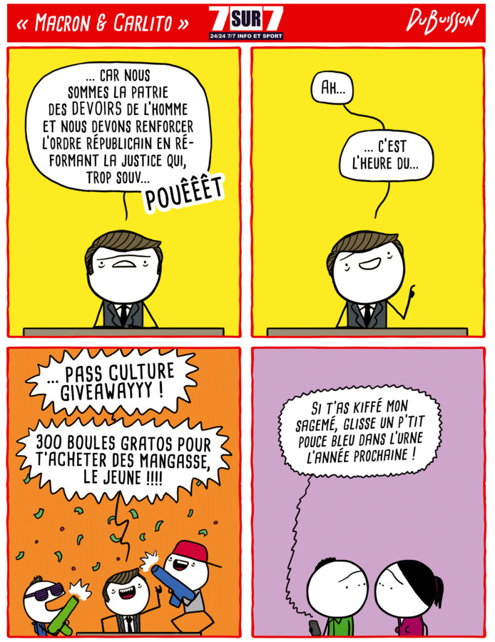 """Macron & Carlito"""