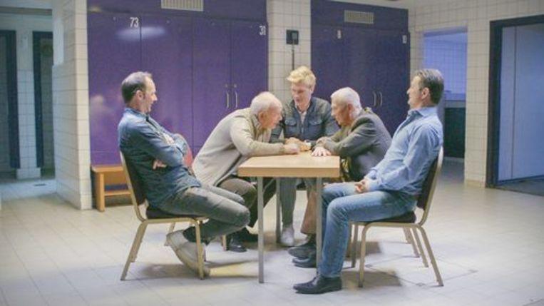 Ruben Van Gucht ontvangt onder meer Bart Goor en Tomasz Radzinski Beeld rv