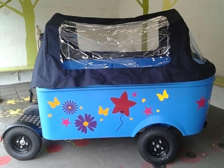 De elektrische bolderkar zal voorlopig niet meer gebruikt worden om kinderen te vervoeren van en naar de buitenschoolse kinderopvang.