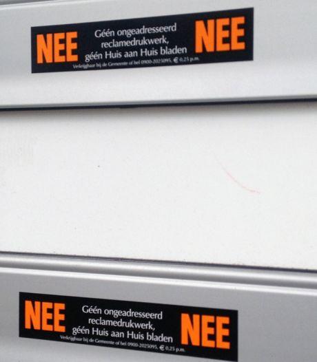 Inwoners van Bergeijk krijgen binnenkort geen reclamefolders meer, tenzij ze een sticker plakken