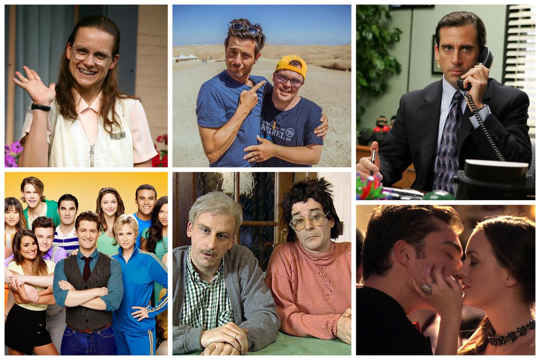Vlnr: 'Sara', 'Down The Road', 'The Office US', 'Glee', 'In De Gloria' en 'Gossip Girl'. Beeld RV