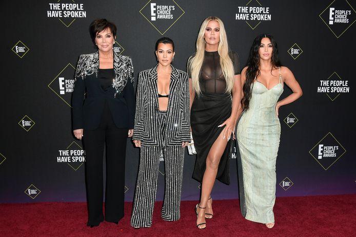 Kris Jenner, Kourtney Kardashian, Khloé Kardashian en Kim Kardashian.