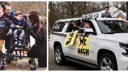 Nash (3) kan geen verjaardagsfeestje houden door zijn ziekte. En dus organiseerde de buurt een hartverwarmende parade voor hem