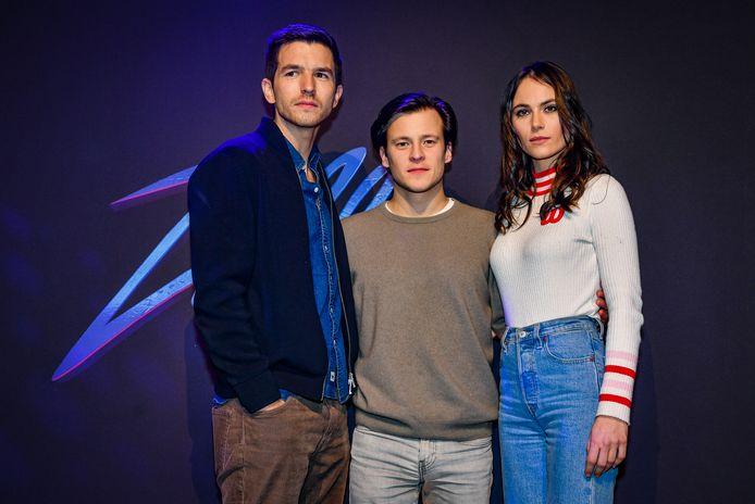 Matteo Simoni, Jonas Vermeulen en Charlotte Timmers.