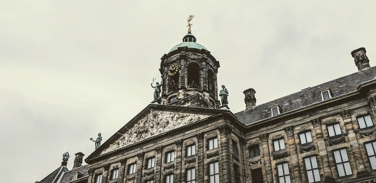 The Royal Palace at Dam Square. Beeld Shutterstock