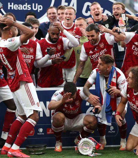 Arsenal toch nog Europa League in door goals Aubameyang tegen Chelsea