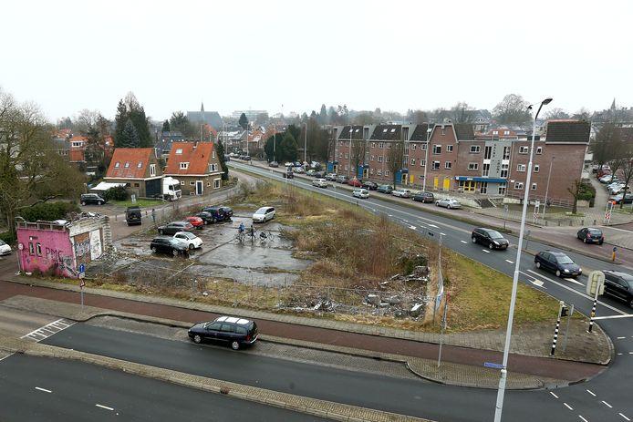 Het Kirpestein terrein als 'lelijkste plek van Wageningen'.