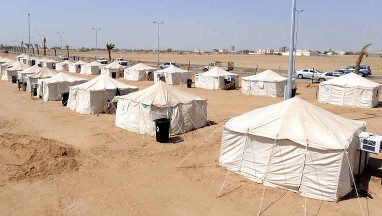Net zoals er in landen in oorlog tentenkampen opgezet worden, willen de ngo's dit nu ook doen in Brussel. Beeld UNKNOWN