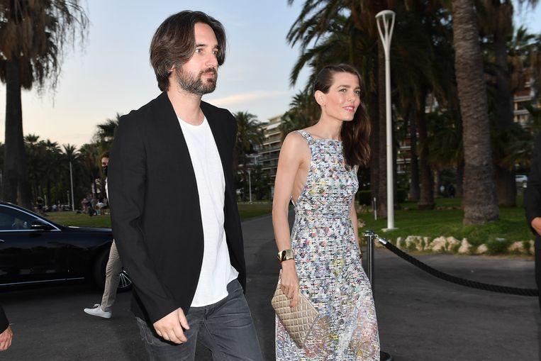 Charlotte Casiraghi and Dimitri Rassam tijdens het Cannes Film Festival 2021 Beeld GC Images