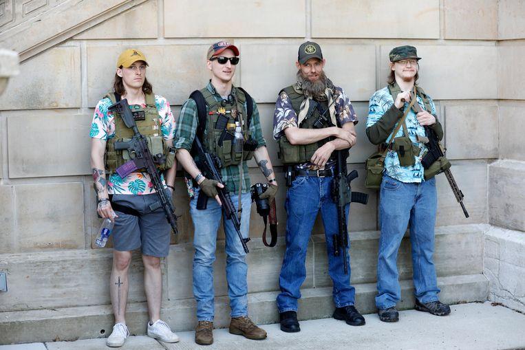Boogaloo Boys. Beeld Hollandse Hoogte / AFP