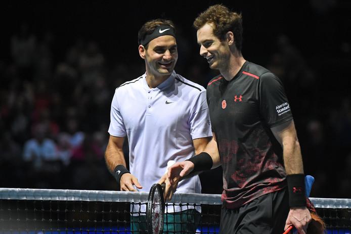 Andy Murray en Roger Federer.