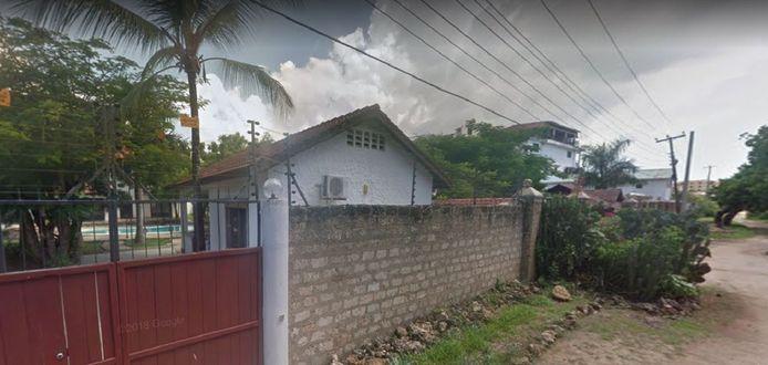 Poort bij de villa van de vermoorde Nederlandse zakenman Tob Cohen, in een buitenwijk van de Keniaanse hoofdstad Nairobi.