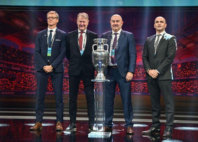Markku Kanerva, Age Hareide, Stanislav Cherchesov et Roberto Martinez.