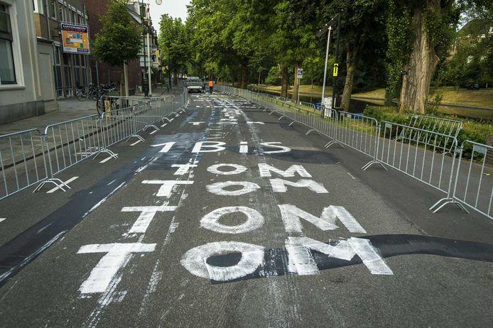 Het parcours in het centrum van Utrecht is klaar voor de eerste rit van de Tour de France.