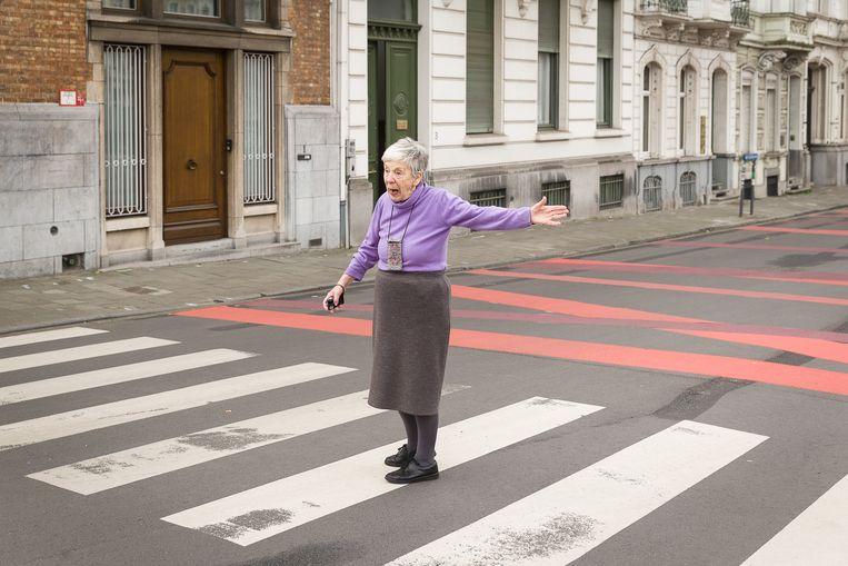 De Gentse Godelieve wijst fietsers op hun plichten in het kader van het nieuwe Mobiliteitsplan. Didden: