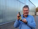 Brouwer Luc Vermeersch met zijn nieuwe winterbier: de Enfant Terriple d'Hiver.