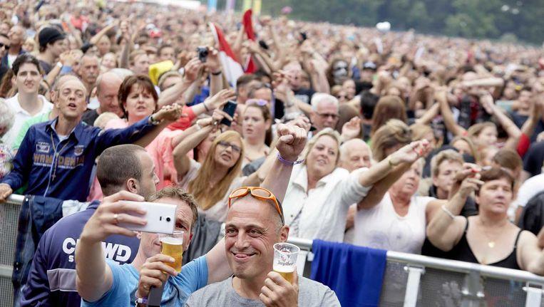 Publiek op het Haagse muziekfestival Parkpop Beeld anp