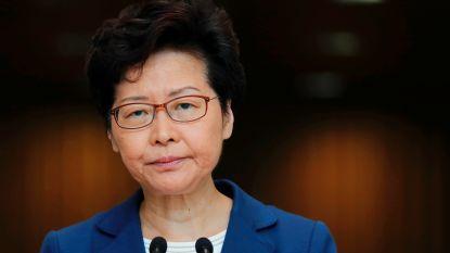 """Carrie Lam: """"Chinese interventie in Hongkong blijft een optie"""""""