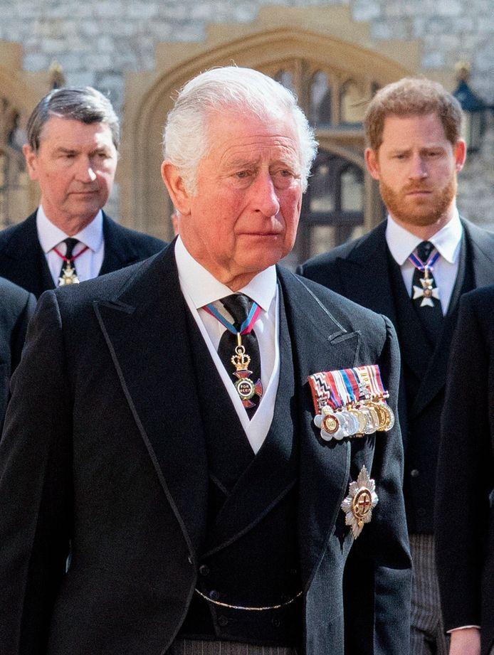 Charles en Harry zouden weer met elkaar gaan praten.