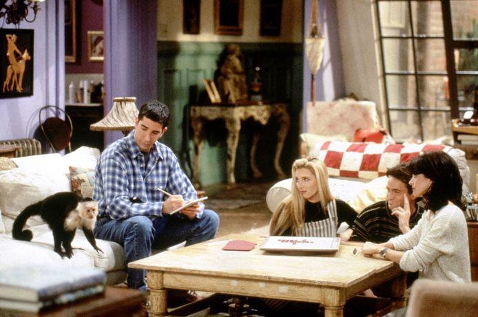 Katie/Monkey als Marcel, David Schwimmer als Ross Geller, Lisa Kudrow als Phoebe Buffay, Matthew Perry als Chandler Bing Courteney Cox als Monica Geller.