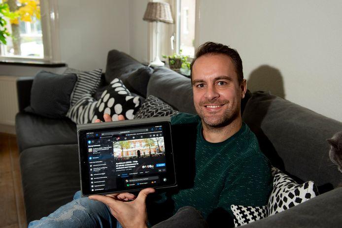 Apeldoorner Matthijs van de Garde, initiatiefnemer van Facebookgroep Apeldoorn (055) - Help de lokale ondernemer in verband met Corona.