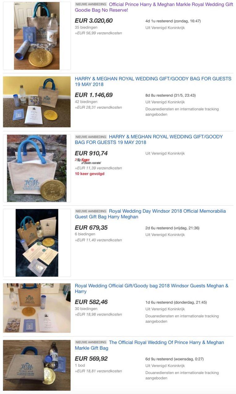 Intussen lopen de aanbiedingen binnen op eBay.