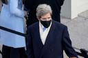 John Kerry, die speciaal adviseur voor het klimaat wordt in de regering van Biden, tijdens de aflegging van woensdag
