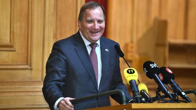 Stefan Löfven negen dagen na ontslag opnieuw premier van Zweden