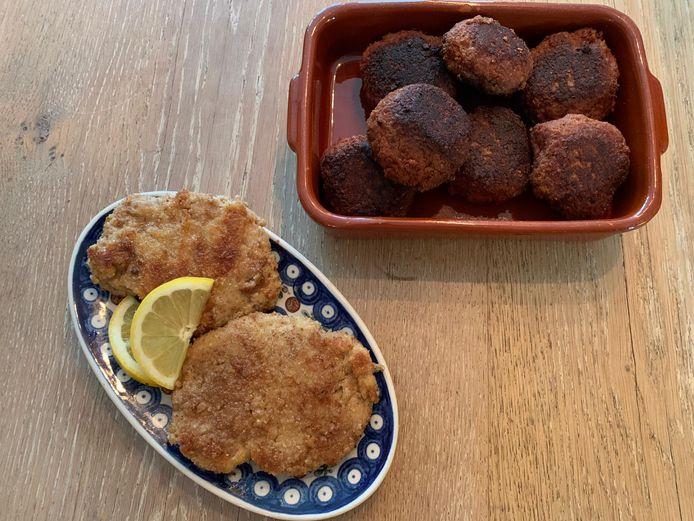 Met de twee plantaardige mixen van Susta Foods draai je ballen, rul je gehakt of maak je bijvoorbeeld een kipschnitzel.