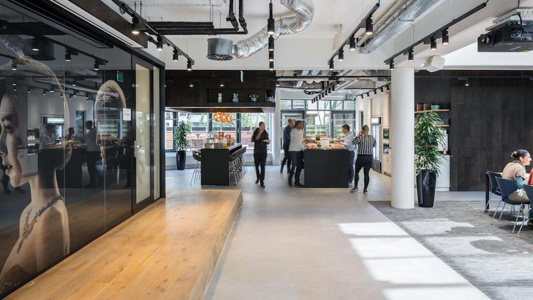 Het nieuwe kantoor van Netflix in Amsterdam. Beeld Netflix