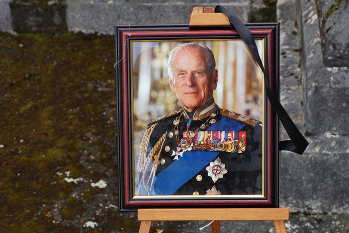Portrest van prins Philip, Duke of Edinburgh.