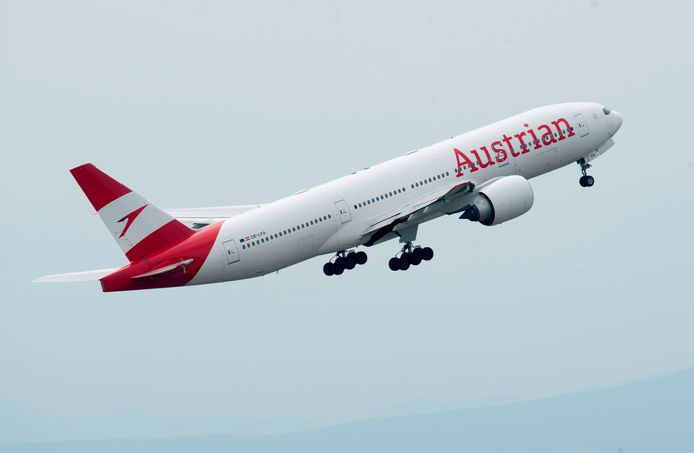 Een vliegtuig van Austrian Airlines
