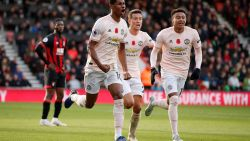 VIDEO. Rashford bezorgt Man United -zonder Lukaku en Fellaini - in toegevoegde tijd volle buit in Bournemouth