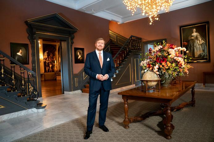 Koning Willem-Alexander tijdens zijn kersttoespraak