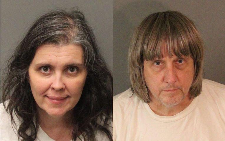 De opgepakte ouders David en Louise Turpin.