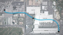 De ondergrondse loop in Las Vegas verbindt twee beursgebouwen van de CES.