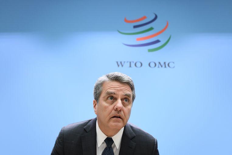 Directeur-generaal Roberto Azevedo van de WTO. Beeld AFP